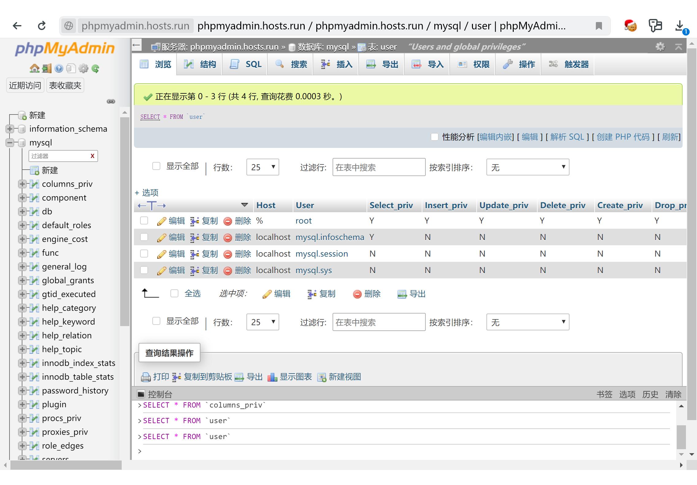 MySQL 管理工具 phpMyAdmin